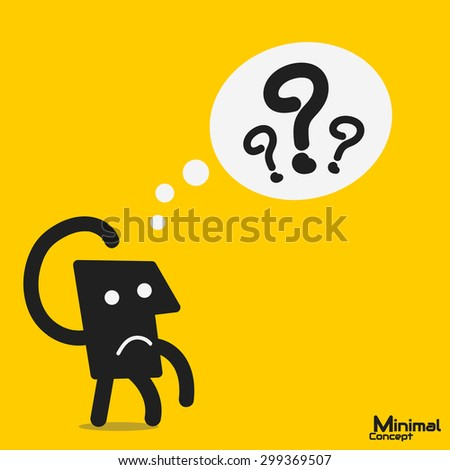 question mark in think bubble - stock vector