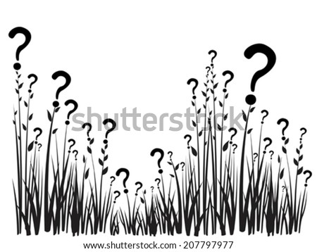 Question mark  isolated on white background. vector illustration  - stock vector