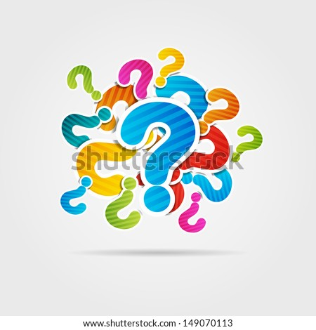 Question mark poster - stock vector