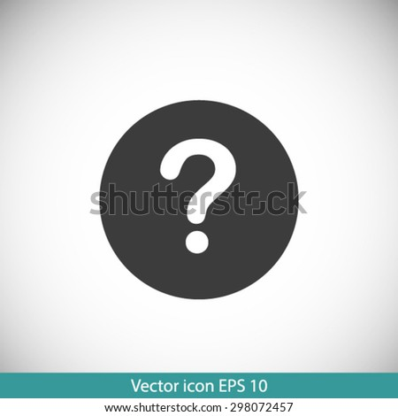 Question mark sign icon. Help symbol. FAQ sign. Flat design style. EPS 10. - stock vector