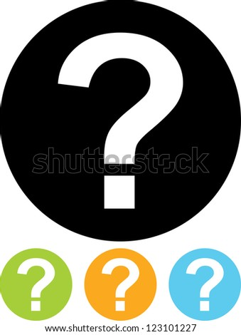 Question Mark - Vector icon isolated - stock vector