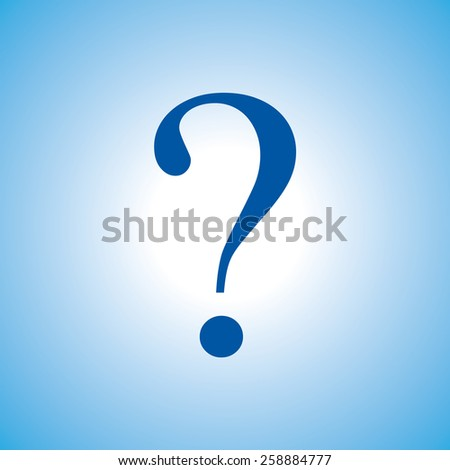 question mark, vector illustration. Flat design style - stock vector