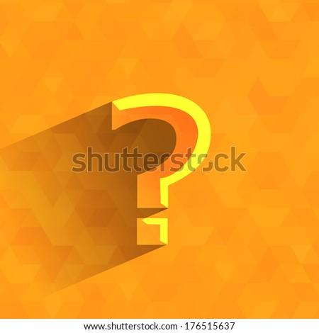 Question .Vector format - stock vector