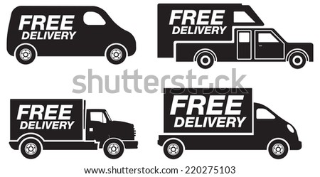 Quick Delivery Van - Illustration - stock vector