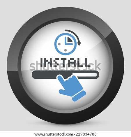 Quick install - stock vector