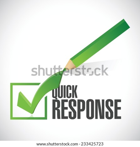 quick response check mark illustration design over a white background - stock vector