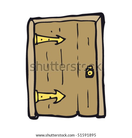 quirky drawing of a door - stock vector