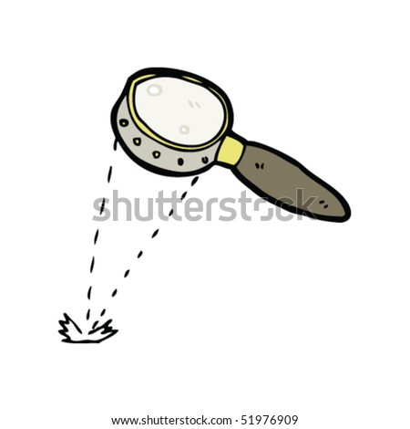 quirky drawing of a magnifying glass - stock vector