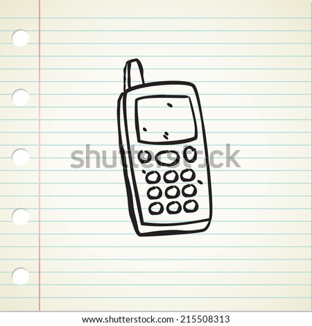 quirky vintage cellphone - stock vector