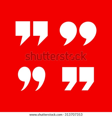 Quotation Marks - stock vector