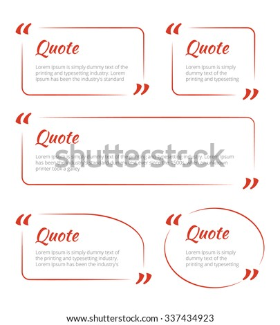 Quote blank template. Quote bubble. Empty template. Circle business card template, paper sheet, information, text. Print design. Quote form. Template vector set - stock vector