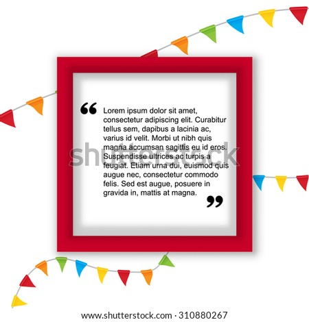 Quote citation Typographical Poster Template. For your commercial project or personal use. - stock vector
