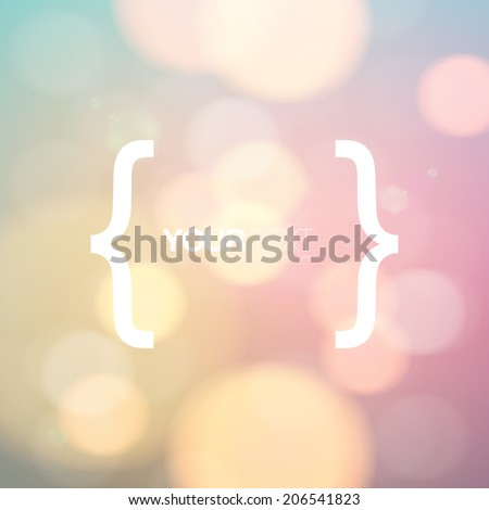 Quote design with brackets, your text and colorful bokeh effects background  Eps 10 stock vector illustration  - stock vector