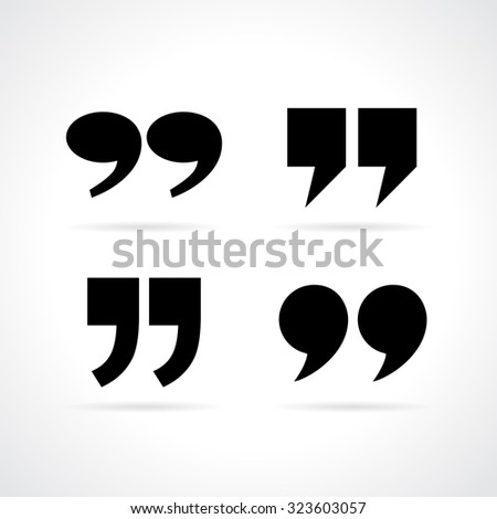 Quote marks - stock vector