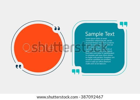 Quote text bubble. Commas, note, message and comment. Creative quote.  Quote template for your design - stock vector