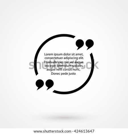 Quote text bubble Icon Vector. Quote text bubble Icon JPEG. Quote text bubble Icon JPG. Quote text bubble Icon EPS. Quote text bubble Icon AI. Quote text bubble Icon  - stock vector