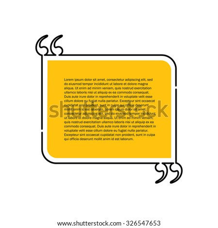 quote text bubble vector graphic design using black line - stock vector