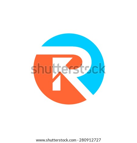 R letter concept logotype in circle - stock vector