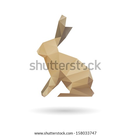 Rabbit abstract isolated on a white backgrounds, vector illustration - stock vector