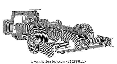 Race Car Stripes Vector 15  - stock vector