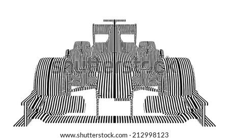 Race Car Stripes Vector - stock vector