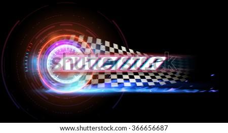 Racing banner - stock vector