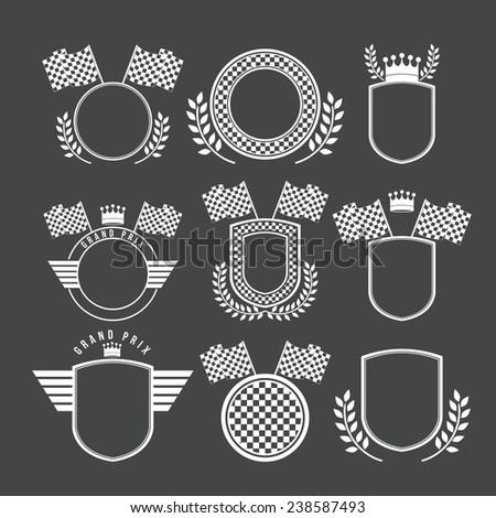 Racing design over black background,vector illustration. - stock vector