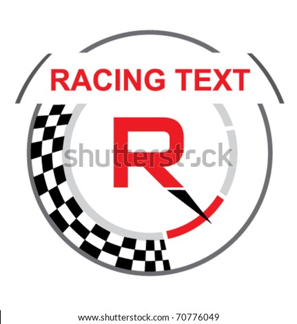 Racing emblem with a place for your sample text - stock vector