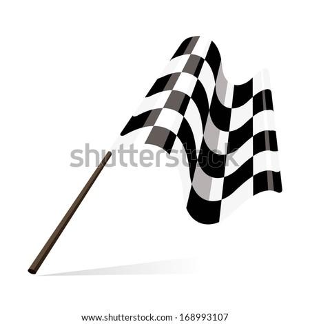 racing flag, checkered flag  - stock vector