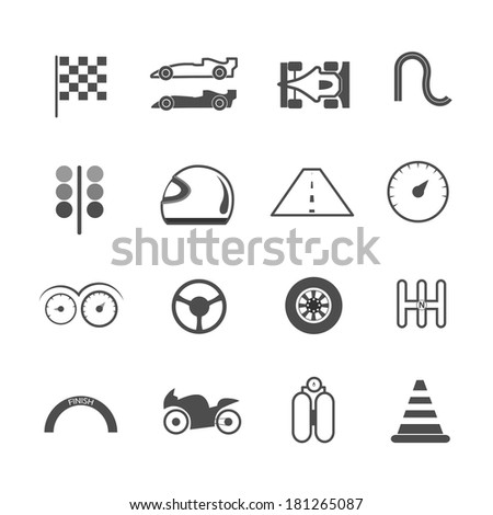 Racing Icons vector illustration. - stock vector
