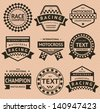 Racing insignia set, vintage style - stock vector