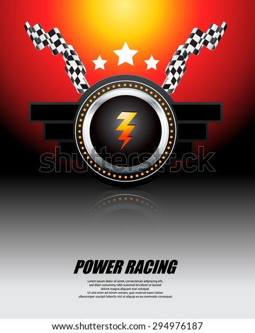 Racing power - vector illustration - stock vector