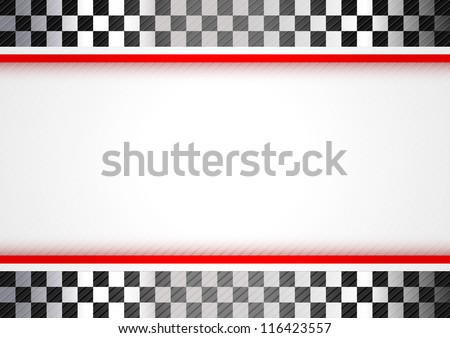 Racing red background, vector design 10 eps - stock vector