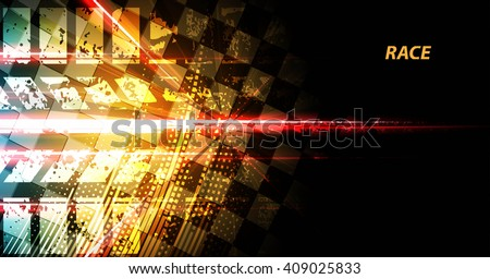 Racing square background, vector abstraction in racing car track - stock vector