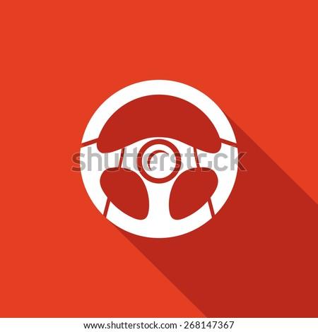 Racing steering wheel. Vector Illustration. - stock vector