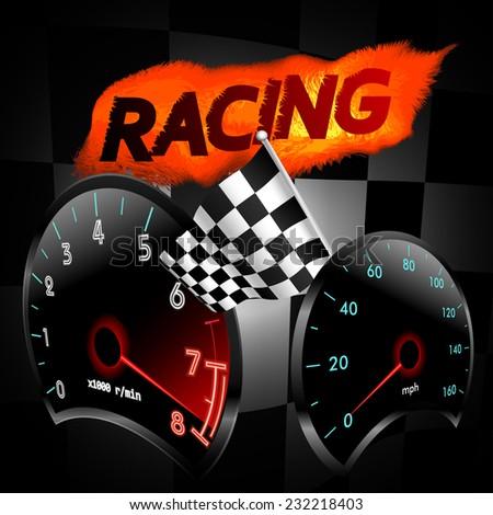 Racing theme. Vector illustration. - stock vector