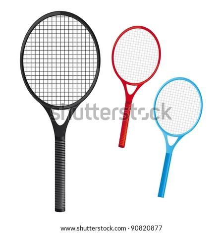 rackets tennis over white background. vector illustation - stock vector
