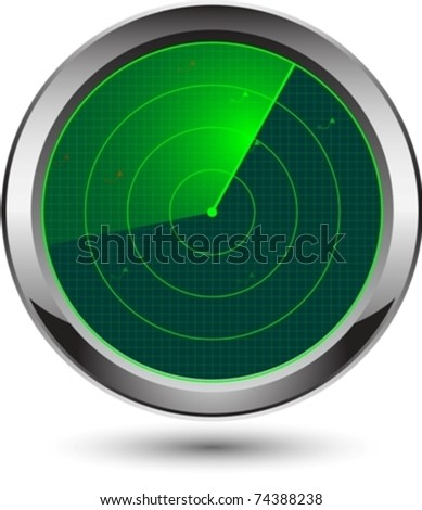 radar icon eps10 - stock vector