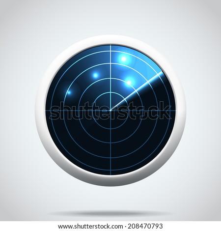 Radar icon. I - stock vector