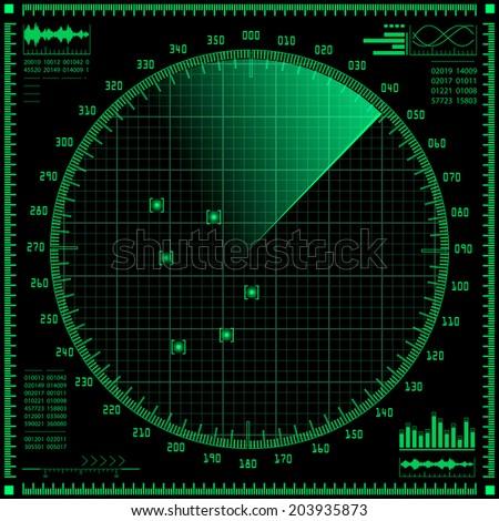 Radar screen. Vector EPS10. - stock vector