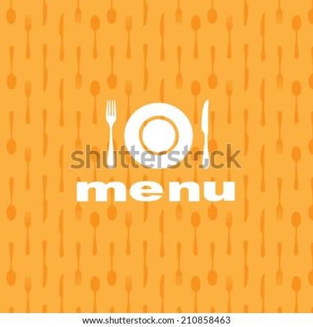 Radial cutlery menu background - stock vector