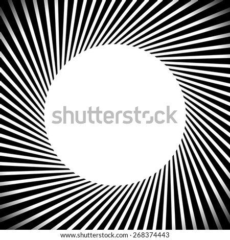 Radiating Lines Abstract Artistic Background - stock vector