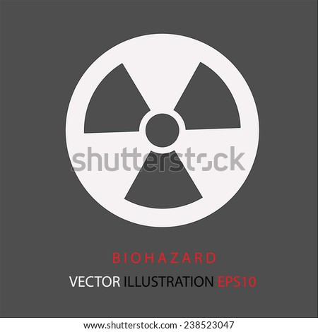 Radiation danger icon. - stock vector