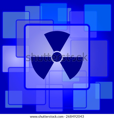 Radiation icon. Internet button on abstract background.  - stock vector
