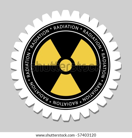Radiation Sign Label - stock vector