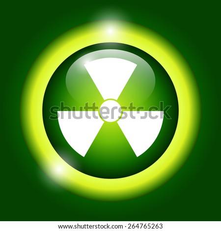 radiation symbol. Flat vector illustrator Eps 10 - stock vector