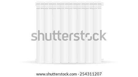 Radiator - vector drawing isolated on white background - stock vector
