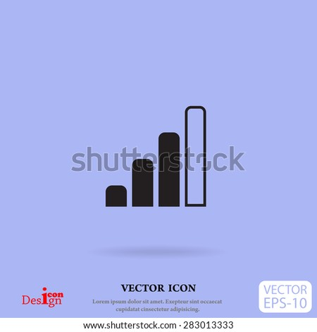 radio signal level vector icon - stock vector