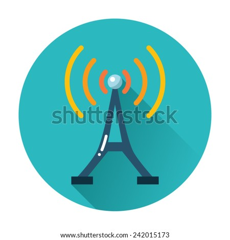 radio tower icon - stock vector