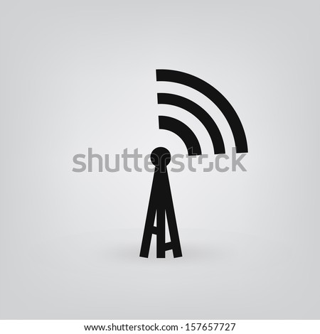 radio tower icon vector - stock vector
